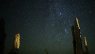 Stock Video Footage of 4K Mono Lake Perseid Meteor Shower 05 Dolly R Milky Way Time Lapse
