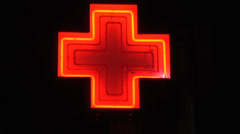 Italian para pharmacy red cross Stock Footage