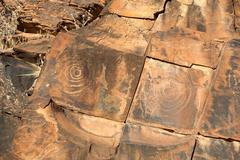 Stock Photo of chambers gorge aboriginal engraving site. flinders ranges. south australia