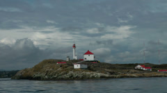 Lighthouse At Victoria BC Stock Footage
