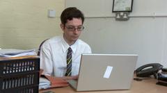 Businessman chatting online Stock Footage