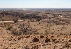 Desert landscape. flinders ranges. south australia Stock Photos