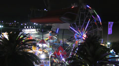 Fair Aerial Shot From SkyRide Stock Footage