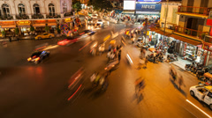 1080 - HANOI SUNSET TIMELAPSE - HOAN KIEM DISTRICT Stock Footage