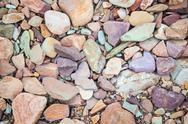 Stock Photo of pebbles on a dry river bed. flinders ranges. south australia