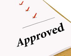 Approved Status Checklist Stock Photos