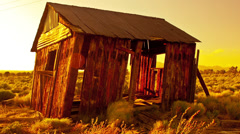 Abandon House at Sunset - Time Lapse -  4K -  4096x2304 Stock Footage