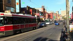 Chinatown Toronto Timelapse 3 Stock Footage