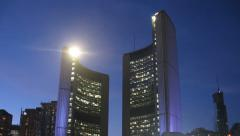Toronto City Hall Sunset Timelapse 2 Stock Footage