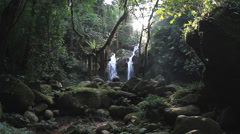 Waterfall in deep forest in northern Thailand. Stock Footage