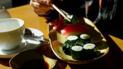 Sushi rolls. Stock Footage