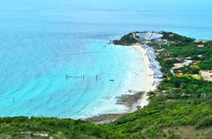 view point from the mountain at lan island (koh lan) - stock photo