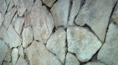 Wall decorated with natural stones. Stock Footage
