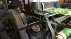 Silk weaving machine Stock Footage