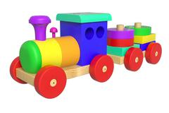 Stock Illustration of wooden toy train