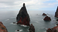 Stock Video Footage of madeira rocks HD
