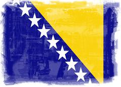 Stock Photo of flag of bosnia and herzegovina