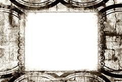 Grunge border and background Stock Photos