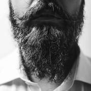 Close up of long beard and mustache Stock Photos