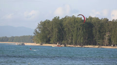 Kitesurfing in Thailand Stock Footage