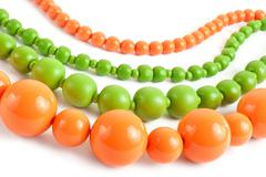 colored nacklace - stock photo