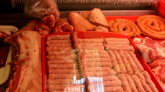 Stock Video Footage of meat market