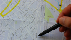 Travel route plan Stock Footage