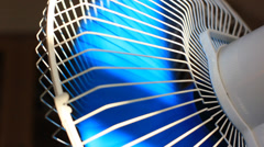 Oscillating fan spinning with rotating blades Stock Footage