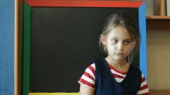 dissatisfied  schoolgirl - stock footage