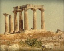 8MM GREECE antic greek ruins and columns - 1961 - stock footage