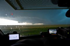 EF5 Historic El Reno Wedge Tornado strikes Oklahoma PT5 - stock photo
