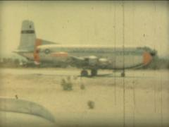 8MM GREECE US air force plane Douglas C-124 Globemaster II - 1961 Stock Footage