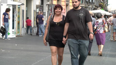 Over weight couple. Stock Footage
