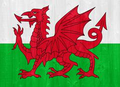 Wales flag Stock Photos