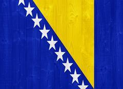 bosnia and herzegovina flag - stock photo