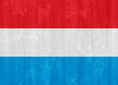 Stock Photo of luxembourg flag