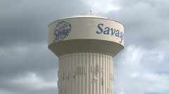 Savage Water Tower Stock Footage