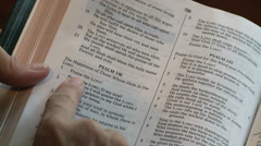 Bible Psalm Stock Footage