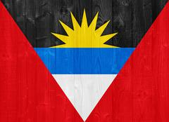 Antigua and barbuda flag Stock Photos