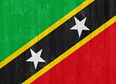 Saint kitts and nevis flag Stock Photos