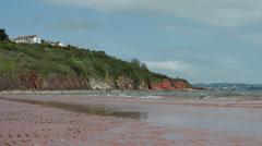 Beach at Broadsands, near Paington, Devon, United Kingdom Stock Footage