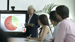Senior business person presentation in boardroom Stock Footage