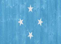 Micronesia flag Stock Photos
