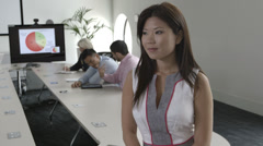 Portrait of Asian businessperson in office - stock footage