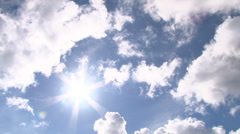 Incredible Clouds and Sun Time Lapse - stock footage