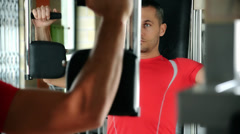 Man during fitness time Stock Footage