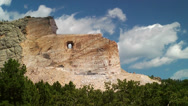 Crazy Horse Memorial in the Black Hills of South Dakota - Time Lapse Stock Footage