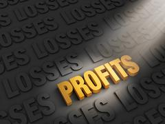 Profits outshine losses Stock Illustration
