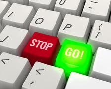 go! technology keyboard - stock illustration