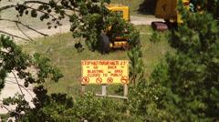 Blasting Area Sign Stock Footage